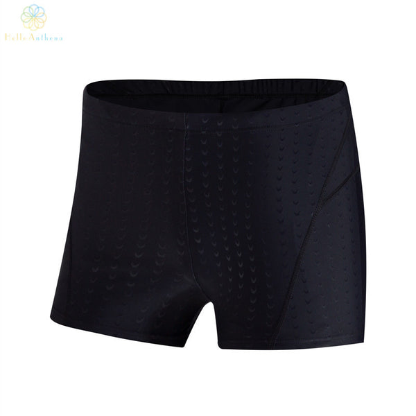 Waterproof sharkskin boxer swimming trunks quick-drying air tight black shorts swimming equipment Human body engineering