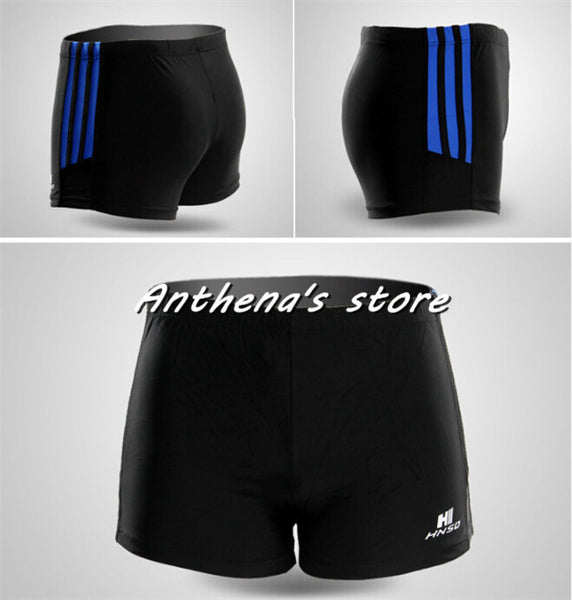 Waterproof sharkskin boxer swimming trunks quick-drying air tight black shorts swimming equipment Human body engineering H-5805