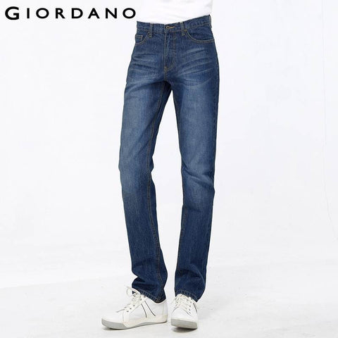 Giordano Men Brand Jeans Fashion Casual Male Denim Pants Trousers Cotton Classic Straight Calca Jeans Masculina