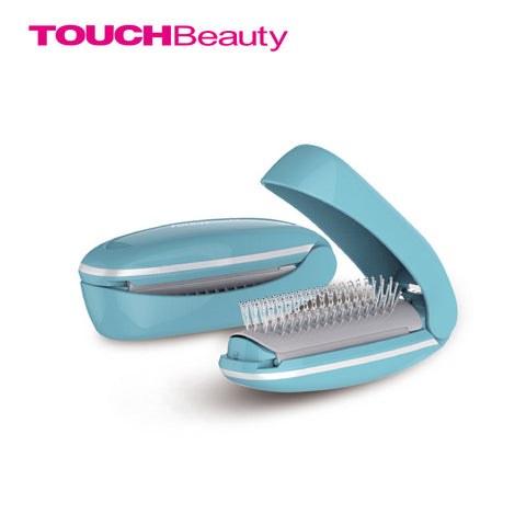 AS-1178 magic comb vibration massage improves blood circulation with built-in mirror foldable and portable