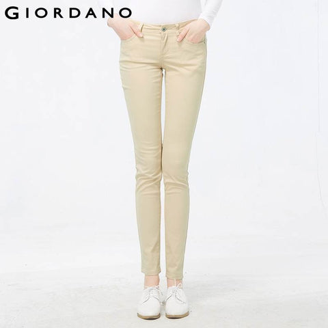 Giordano Women Fashion Skinny Pants for Woman Soft Stretch Pencil Trousers Quality Pantalones Mujer Pantalon Femme