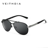 VEITHDIA Brand Best Alloy Men's Sunglasses Polarized Lens Driving Fishing Eyewear Accessories Driving Sun Glasses For Men 3562