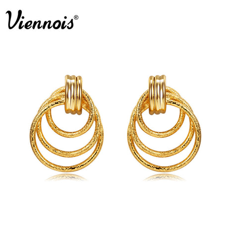 2015 New Viennois Jewelry  women Zinc Alloy GP Gold Plated Drop Earrings Gift