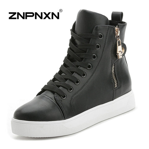 2 Colors Women Palladium Style Fashion High-Top Military Ankle Boots Comfortable Pu Boots Female Martin Boots Women Shoes