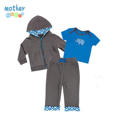 2015 Baby Boys Clothing Set Spring Summer Children's Clothing Sets Sports and Leisure suits 0-2 year Baby Clothing Set 3 pieces