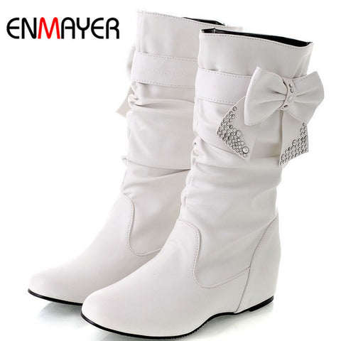 big size 34-44 Hot 2013 New fashion flat boots for women, snow boots and women winter shoes