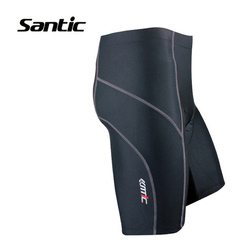 Santic Cycling Shorts Padded Antibacterial Quick Dry Grey Trace Basic Style Outdoor Bike Bicycle Solid Sports Clothing MC05042