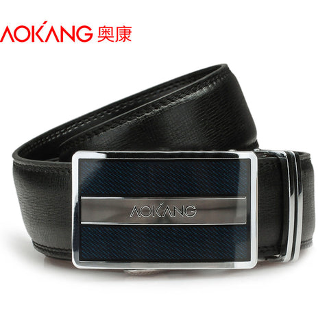 2015 New Brand Designer Belts Men High Quality Black Brown Male Genuine Leather Automatic Belt Free Shipping Wholesale