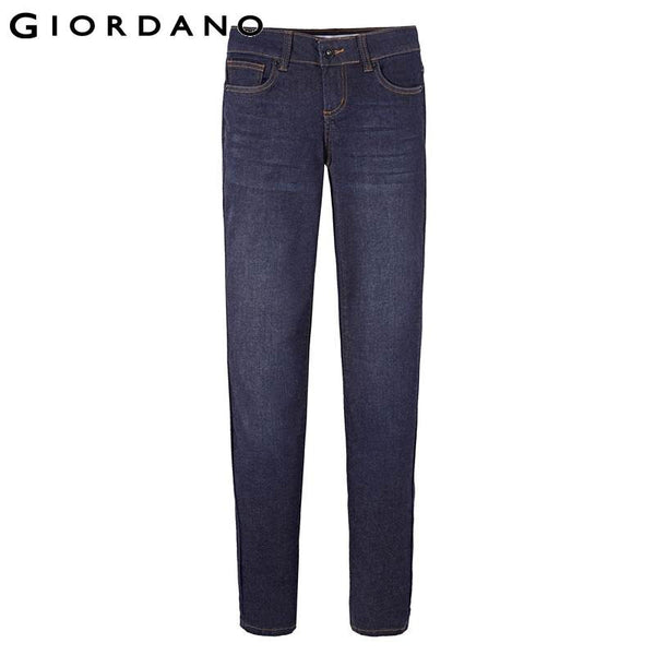 Giordano Women Jeans Brand Skinny Calca Denim Pants Feminina Pantalones Vaqueros Mujer Mulher Female Trousers Cotton