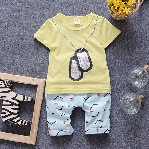 Boys Girl Summer Sets Kids Clothes T-shirt & Pant Children Set 2016 New Style Short Sleeves T shirt Fashion Baby Clothes Sets