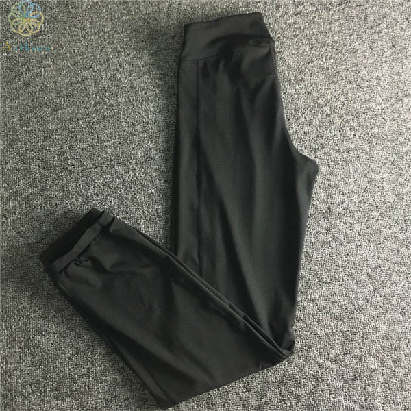 2016 Nylon/Polyester Women Thinken Sports Pants Capris Non-Fading Loose Running Trousers Yoga Jogging Gym Fitness Black Pants