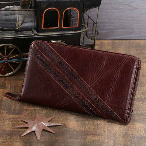 2014 Fashion Genuine Leather Men Clutches Bags Cowhide Leather Handbags Men's Leather Wallets Card Holder vintage bags # 8024C