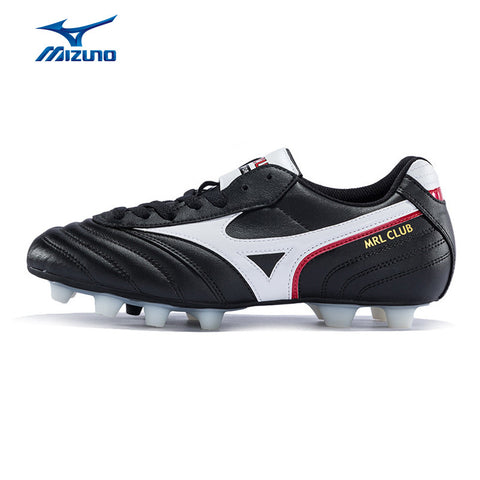 MIZUNO 2016 Men's Sports Leather Beathable Cushioning Soccer Shoes MRL CLUB MD Light Sport Shoes Sneakers 12KP-97601 YXZ009