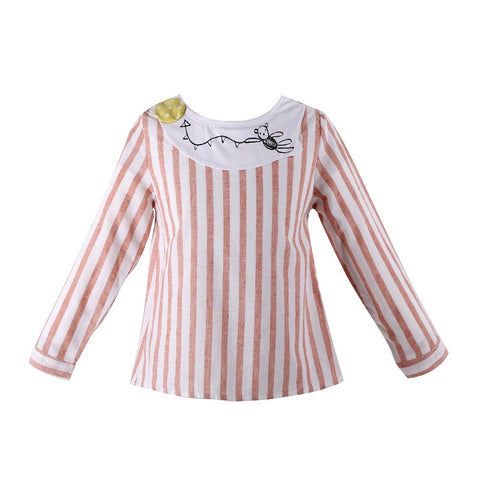 European and American Style girls shirts, designer dot shirt girl, pure cotton children shirts, For 2-8T Kids wear