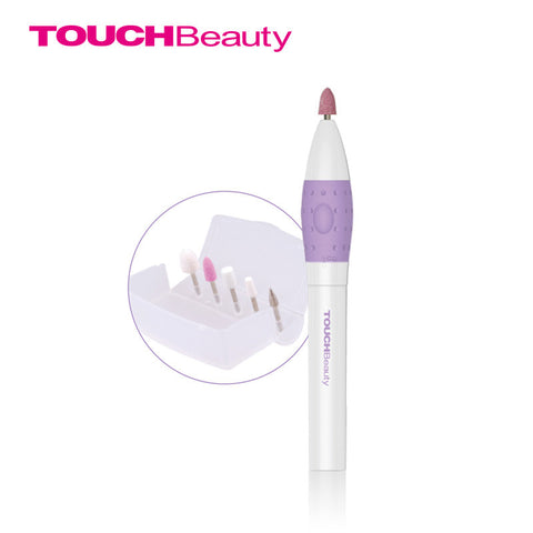 TOUCHBeauty 3 In 1 Nail File Pen Sized Aluminium Exterior Electric Micro Nail Polisher Nail Care Tools Device