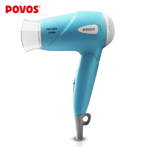 Povos Style Dual Voltage 1200Watt Foldable Travel Portable Hair Dryer for styling tools