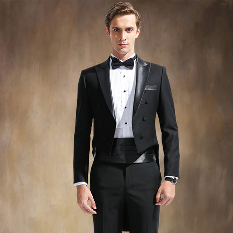 (Vest + suit + pants) 2015 New Men's Fashion Formal Dress Blazer Tuxedo Suit  Male Suit Set Morality Business Wedding Suits