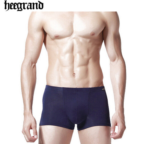 2014 New Arrival Men Underwear Boxers Cotton and Soft Briefs for Men Solid Color High Quality Boxer Free Shipping  NNP070