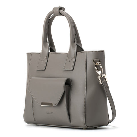 """JESSIE&JANE Women Modern Fashion 2016 Spring Messenger Shoulder Leather Bag Gray"