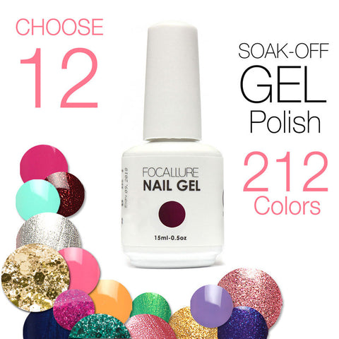 (Choose 12)Civi Soak Off Gel Polish 30 Days Long Lasting 200 Gorgeous Colors The Best UV Nail Gel Polish