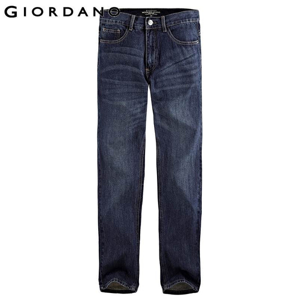 Giordano Men Jeans Brand Casual Straight Jeans Male Fading Denim Pants Cotton Denim Jeans Trousers Calca Jeans Masculina