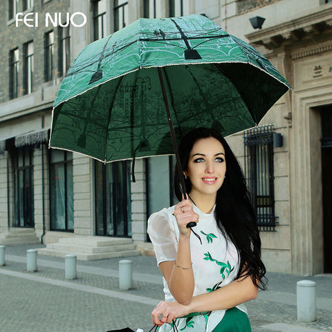 Brand 3 folding princess mushroom sun umbrella anti-uv  women rain umbrella femal parasol paraguas