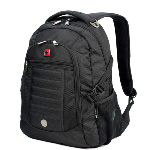 "Swisswin sw9303 Black Business Backpack Male Swiss Military 14"" 15"" Computer Bag Mochila masculino Orthopedic Backpack sac a dos"