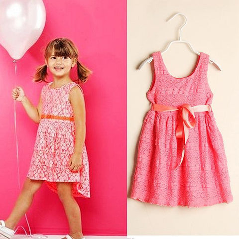 2014 Summer New Arrival girls dress, fashion brand children dress, floral dress girl, designer kids girl's dresses