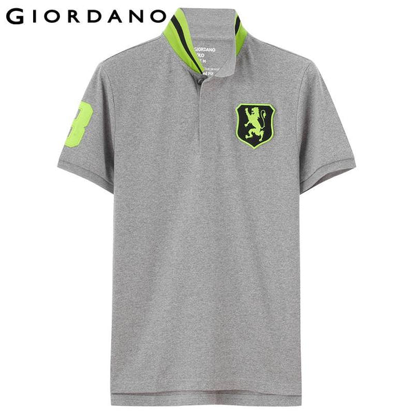 Giordano Men Polo Shirt Solid Pique Short Sleeve Button Collar Polos Chemmise Homme Masaculina Mens Brand Tee Shirts