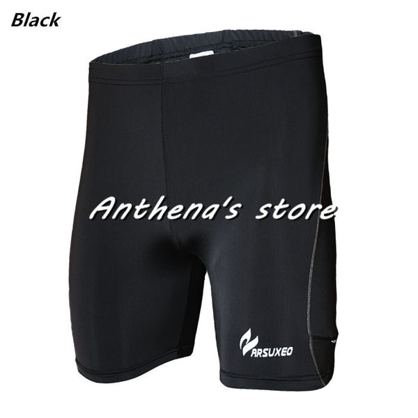 Reflective tight elastic sports fitness running compressing muscle quick drying black free shipping perspiration shorts