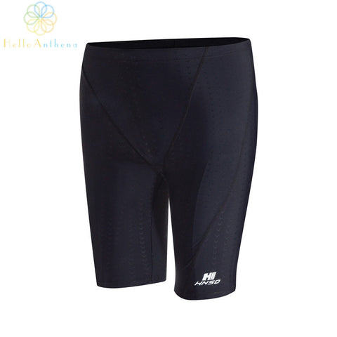 New upgrade imitation sharkskin fabric 5 minutes swimming trunks prevent water swimming trunks black quick-drying breathable