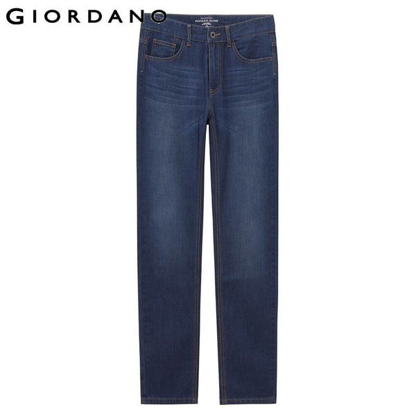 Giordano Men Jeans Indigo Denim Pants Soft Cotton Whiskered Marcas Denims Homme Brand Fashion Slim Vetement Famosa Bottom