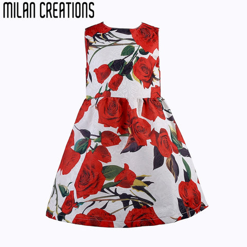 2015 New Brand Girls Clothing Children Dress Fashion Baby Girl Dress Floral Deasigner Girls Summer Dresses Kids Clothes Vestidos