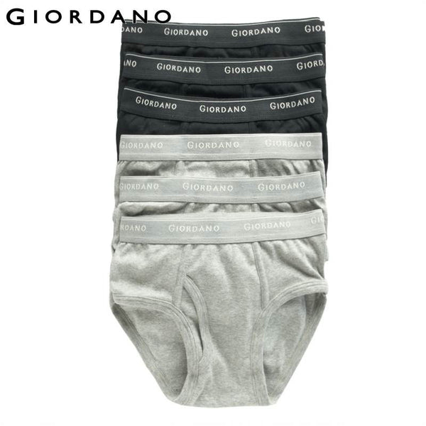 Giordano Men Underwear Brand Mens Underwear Briefs Men's Briefs Calcinha Calzoncillos Hombre 100% cotton lot (6pcs-pack)