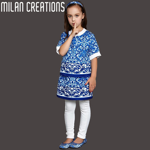 Presale 2015 Girls Clothing Sets Brand Babies & Kids Designer Children Clothing Set Dobby Baby Girl Clothes Roupa Menina 2-12Y