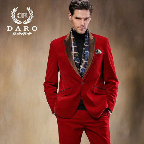 2015 Hot Selling Brand Men Red Suits Business Men Suits Formal High quality Plus Size XS- 5XL Men Suits Free Shipping DR8825-3