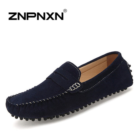 2015 new Mens Shoes casual Handmade Flats Shoes For Men Loafers Moccasins Zapatos Hombre sapatos masculino navy