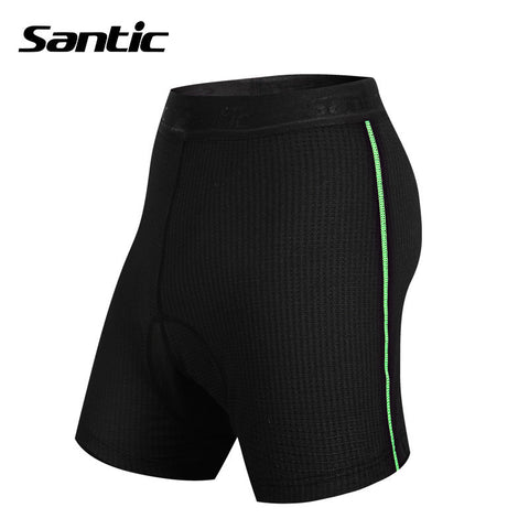 2016 Men Santic Padded Cycling Briefs Males Knickers Underwear Protective Padded Gel Cycling Bike Shorts hombre Base  MC06001