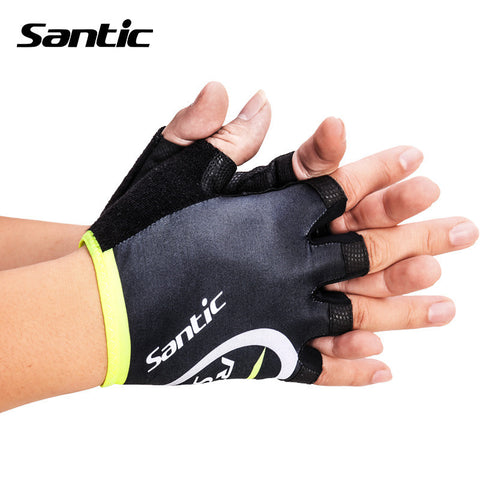 2016 Santic Cycling Gloves Half Finger Unisex Outdoor Sports Skiing Touch Cycling Motorcycle Racing Glovers Fitness M5C09035V