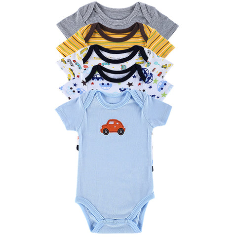2015 Summer Style Baby Bodysuits 5 PCS Baby Clothing Set Similar Carter Baby Brand Jumpsuits Printed Baby Boy Girl Bodysuits