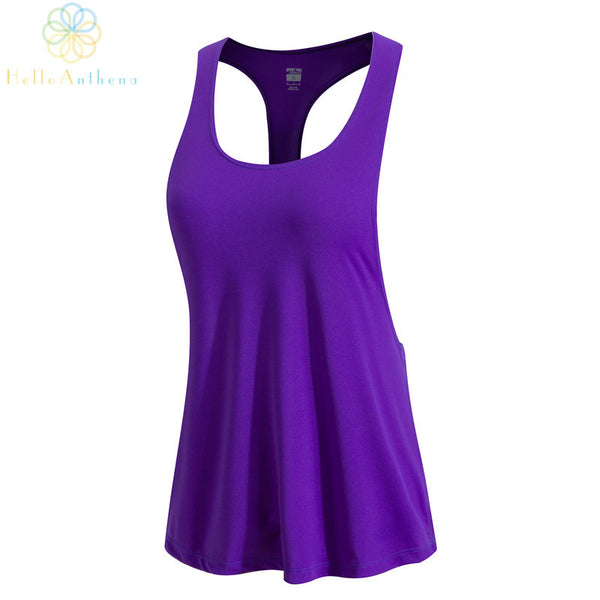 5 Colors Fitness Regular Tank Top 2016 New Women Sports Spandex Loose Skinny T-Shirt Belly Singlet Dance Tops Vest Tank Tops