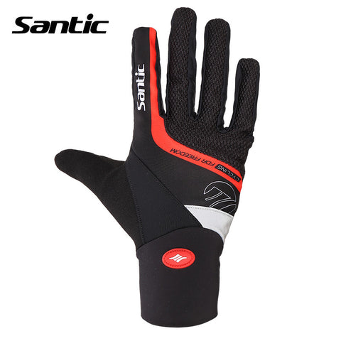 2015 Santic Winter Men Cycling Gloves MTB Male Gloves Cycling Bike Bicycle Full Finger Fitness Cycling mtb Glove For Men 5C09046