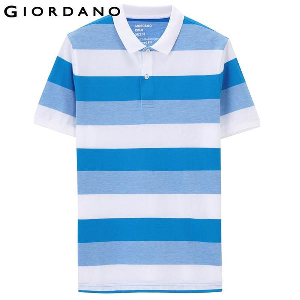 Giordano Men Polo Brand Stripe Shirt Short Sleeve Summer Polos Breathable Cotton Tops Male Masculino Camisa Polo de Marca
