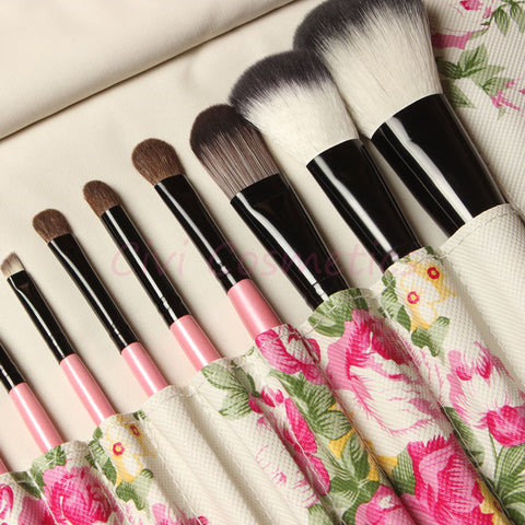 12 Pieces Professional Goat Hair Make up Brush Pony Synthetic Hair Makeup Tools Accessories Sale!