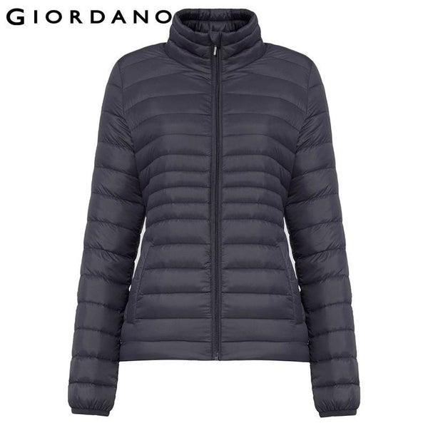 Giordano Women 90% Down Filled Collar Coat Slim Ultralight Female Down Jacket Dames Winter Jassen Manteau Hiver Femme