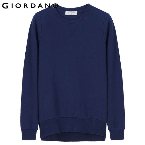 Giordano Women Sweatshirts Brand Solid Long Sleeve Winter Warm Pullovers for Women Sports Top Female Sudaderas Mujer