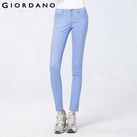 Giordano Women Modern Strechy Pants Solid Skinny Trousers Ladies Fashion Pencil Pants Pantalones Mujer Pantalon Femme