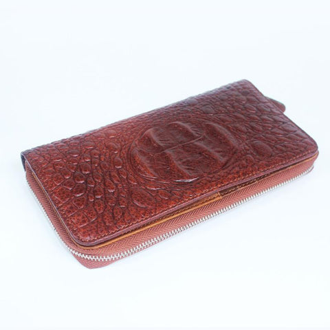 100% genuine leather men wallets fashion alligator pattern men's long wallet large capacity card&phone holder purse hand bag man