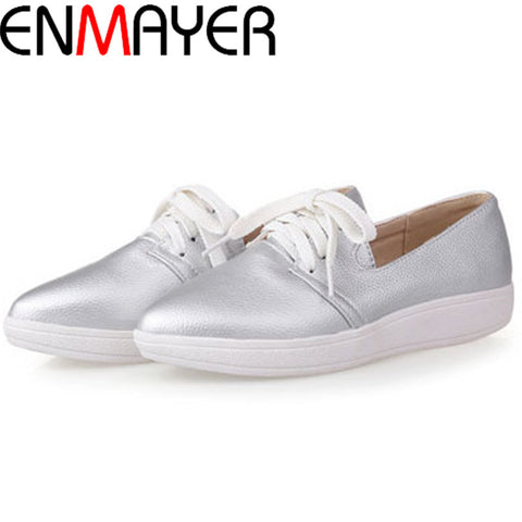 ENMAYER New 2015 summer size (34-40) 3 color women sneakers shoes breathable fashion England style women flat shoes
