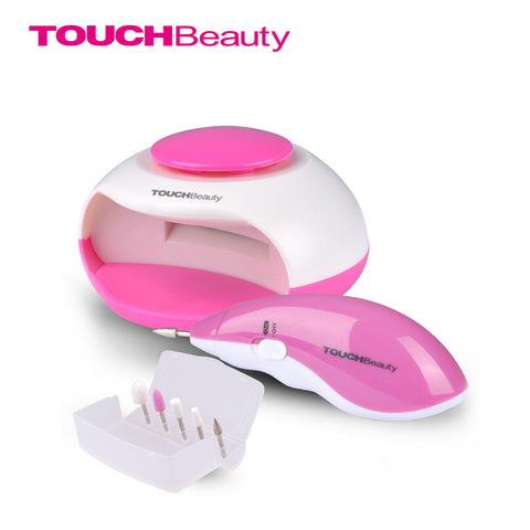 TOUCHBeauty 2 in 1 nail beauty kit electric nail pedicure nail dryer set professional for nail polish and drying